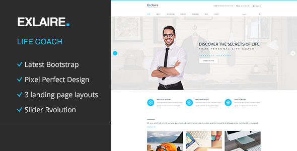 Exclaire - Personal Life Coach HTML template