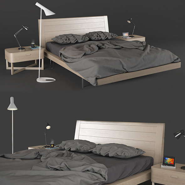 Bed Zanette Moon - 3DOcean Item for Sale