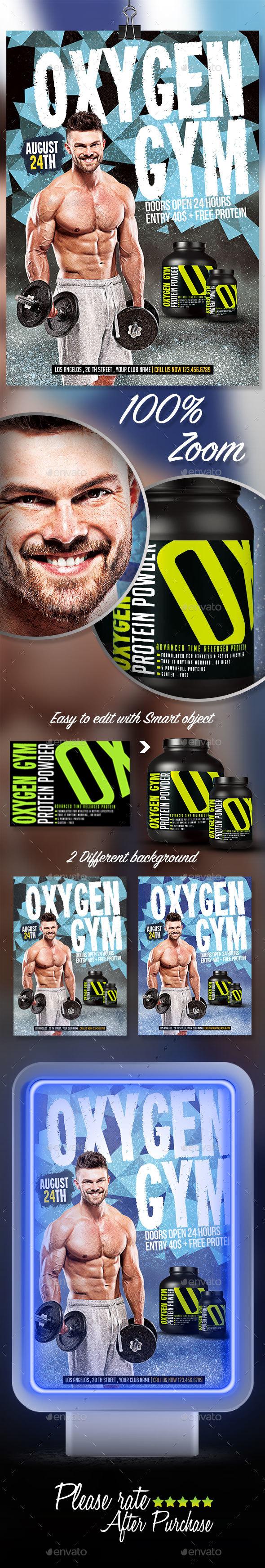 Oxygen Gym Flyer
