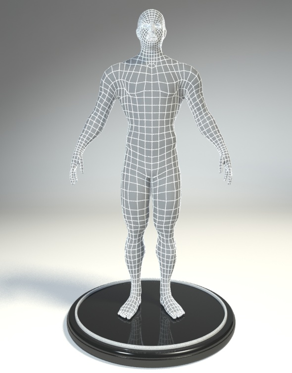Low Poly Base Mesh Male - 3DOcean Item for Sale