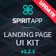 SpiritApp Landing Page UI Kit & Premade Templates (Dark Style)