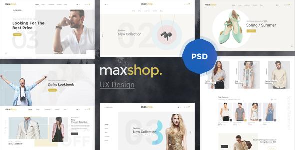 Maxshop - Elegant Fashion PSD Template