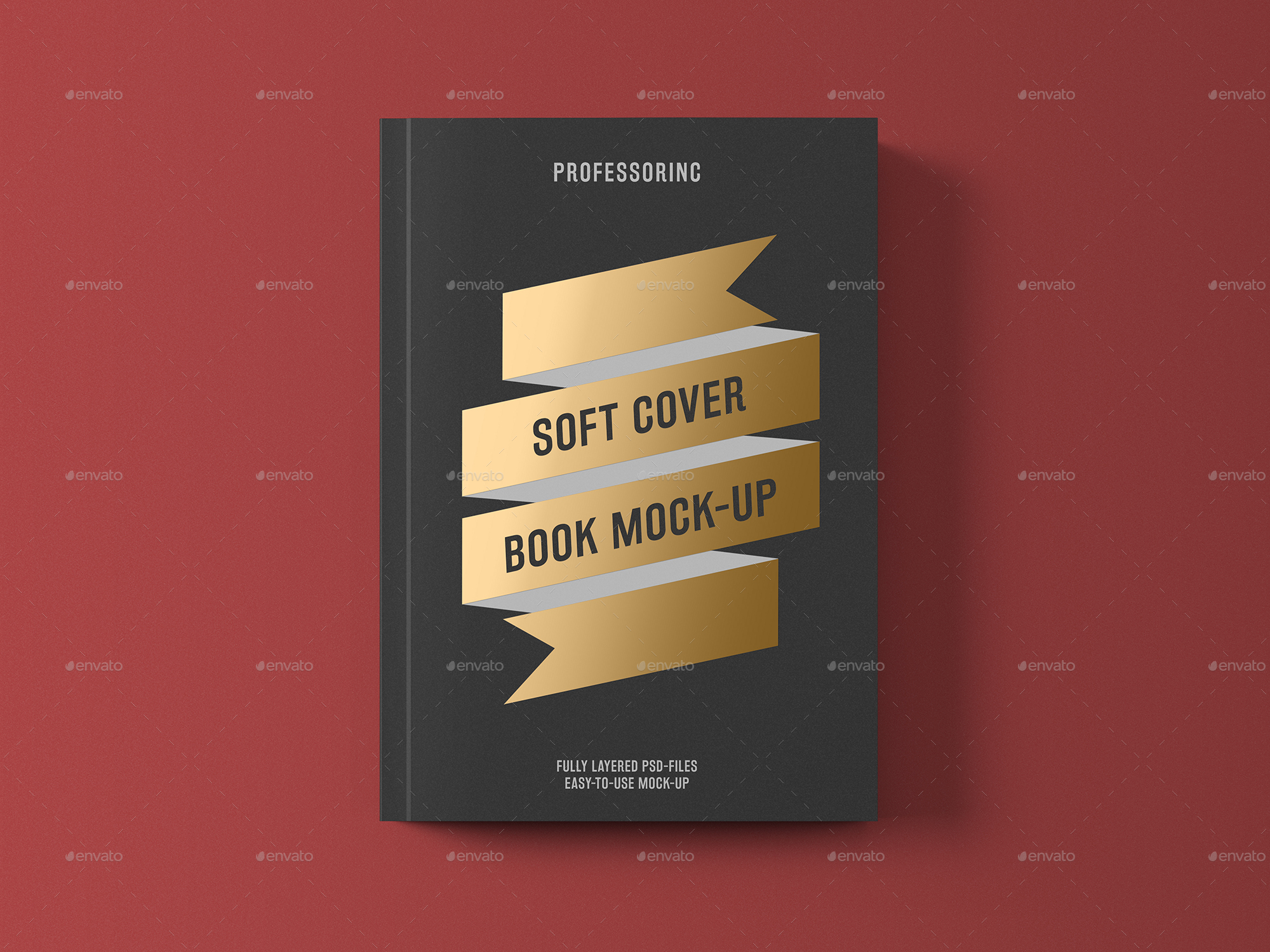 Foil Stamping Book Cover Diy : Soft cover book with foil stamping mock up by professorinc