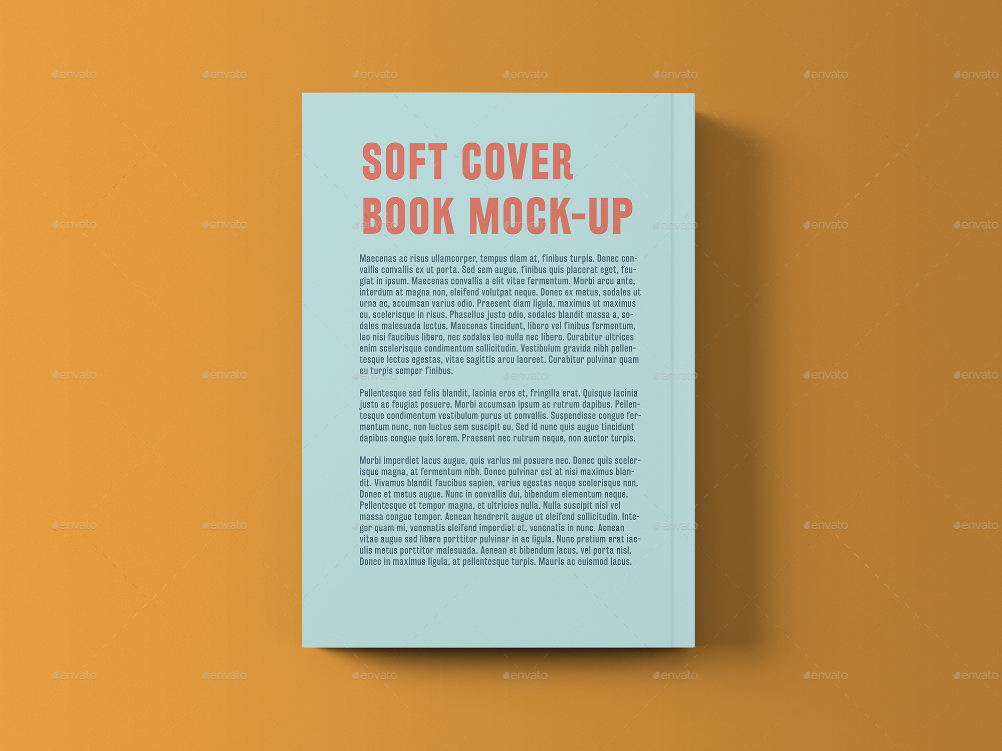 Vintage Soft Cover Book Mock Up : Soft cover book with foil stamping mock up by professorinc