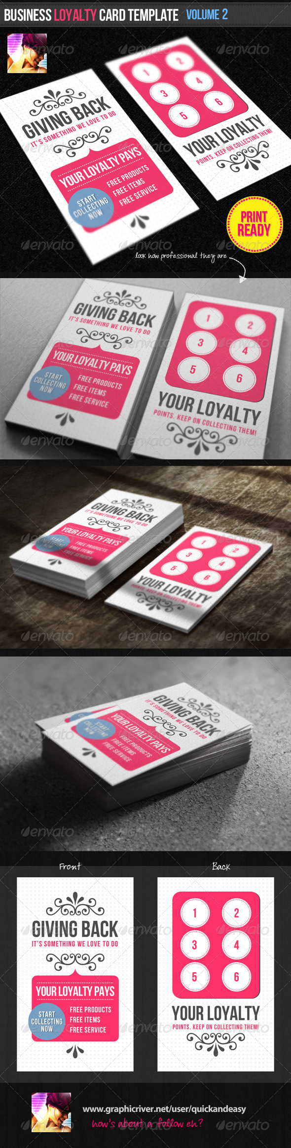 Business Loyalty Card Template Vol.2 - Loyalty Cards Cards & Invites