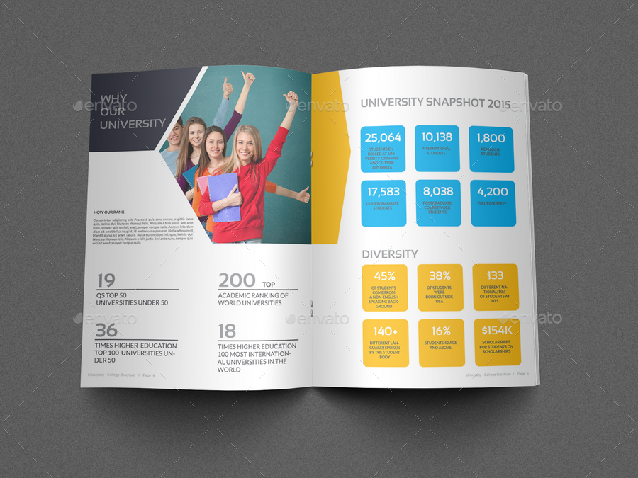 college brochure templates free download - university college brochure template 16 pages by