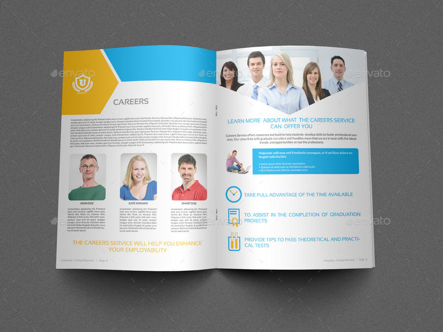 University College Brochure Template 16 Pages by OWPictures – University Brochure Template