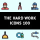 The Hard Work Icons 100