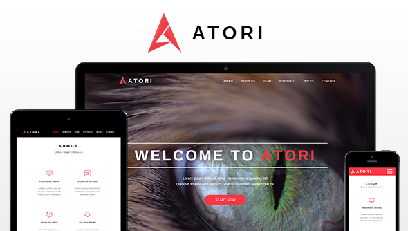 Atori - One Page Muse Template