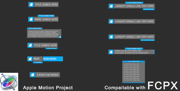 Download Simple Lowerthirds - 12 Pack - Apple Motion nulled download