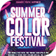 Summer Color Fest Flyer Template