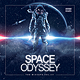 Space Galactic Astronaut CD Cover Template