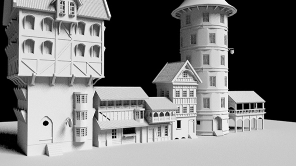 Medieval houses pack - 3DOcean Item for Sale
