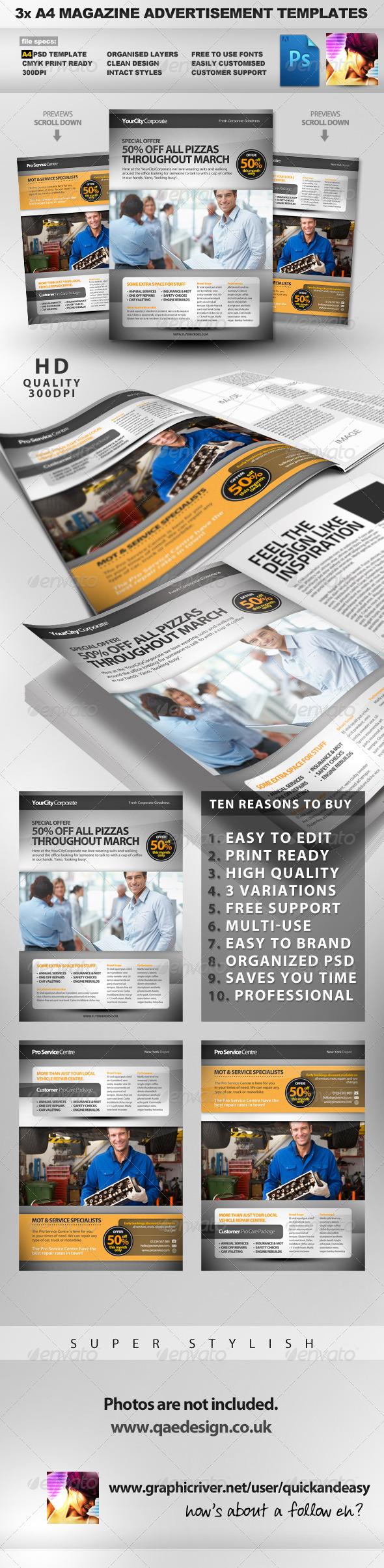 Pro Services A4 Magazine Advertisement Templates 2 - Magazines Print Templates