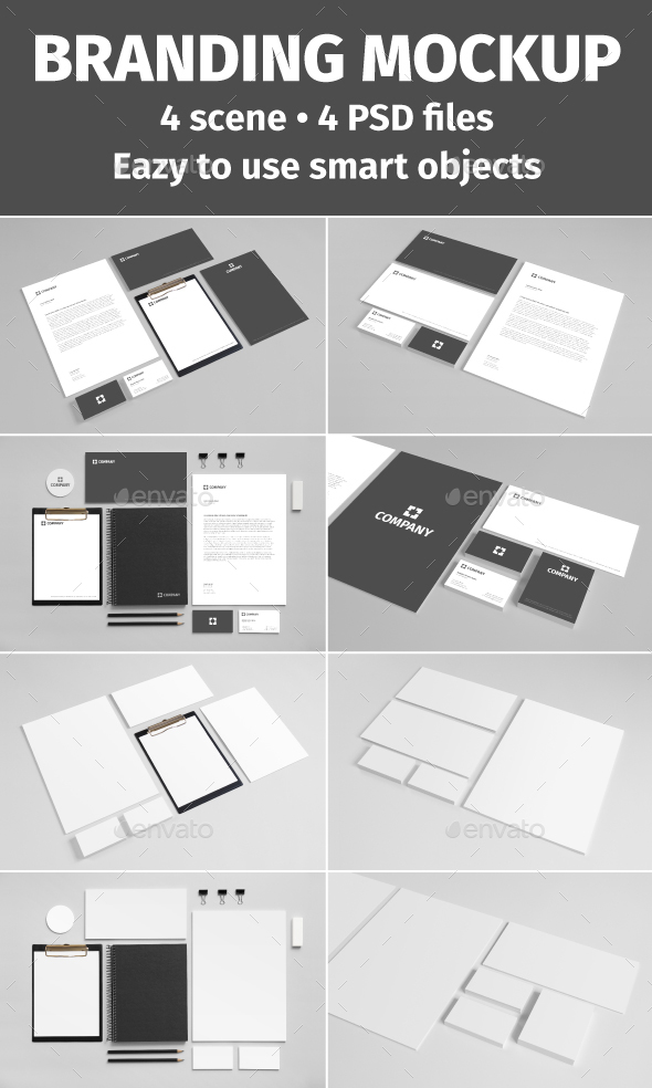 Stationery Mockup (Freelancer Collection) - Set 1 (Stationery)