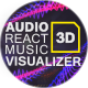 Audio React Music Visualizer 3D