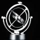 Newton's Cradle, Desk Toy Pendulum Being Activated, Black Background