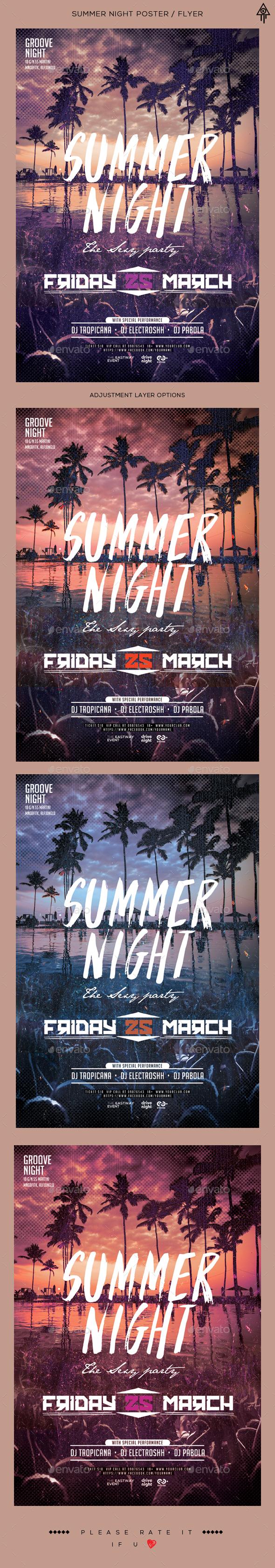 Summer Night Flyer / Poster