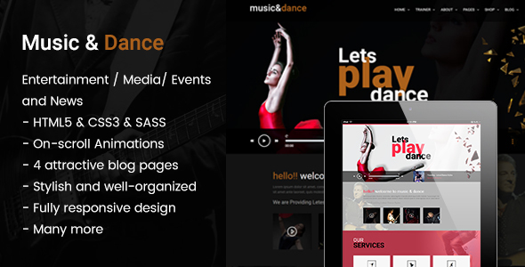 Music and Dance HTML5 Template