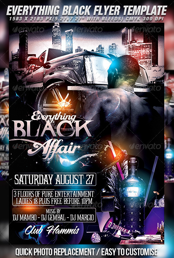 GraphicRiver Everything Black Flyer Template 459944