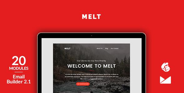 Melt Email Template + Online Emailbuilder 2.1