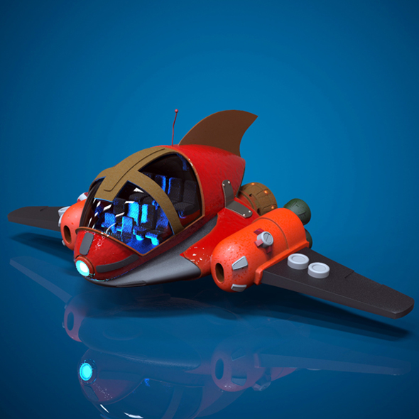 3DOcean Cartoon Spaceship 16893286