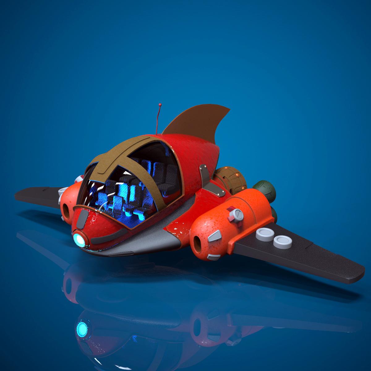 Cartoon Spaceship By Bonesinteractive 3docean