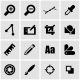 Vector Black Graphic Design Icon Set