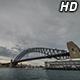 Boats under Sydney Harbour Bridge 2