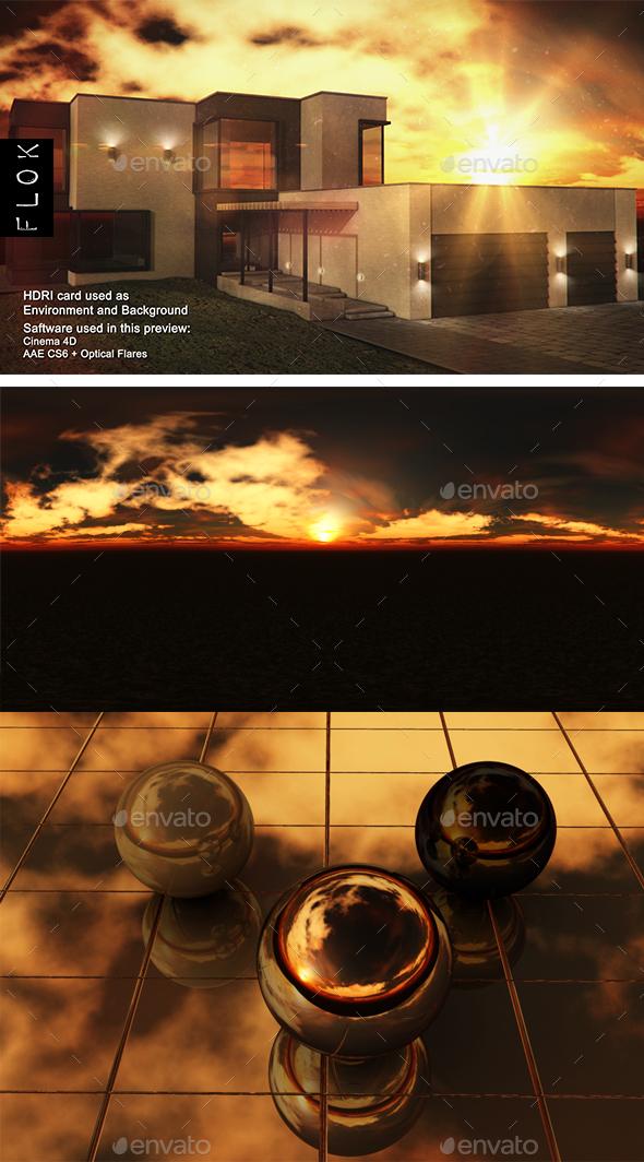 Sunset Desert 65 - 3DOcean Item for Sale