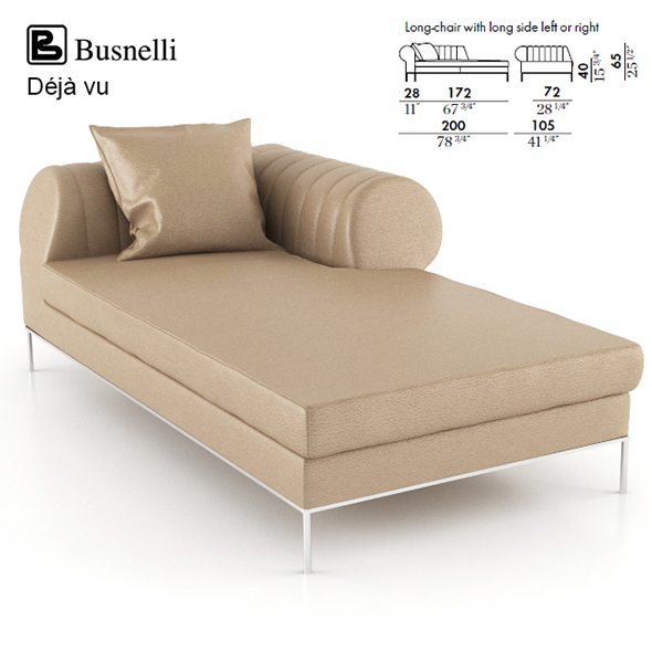 Busnelli Deja vu Long Chair - 3DOcean Item for Sale