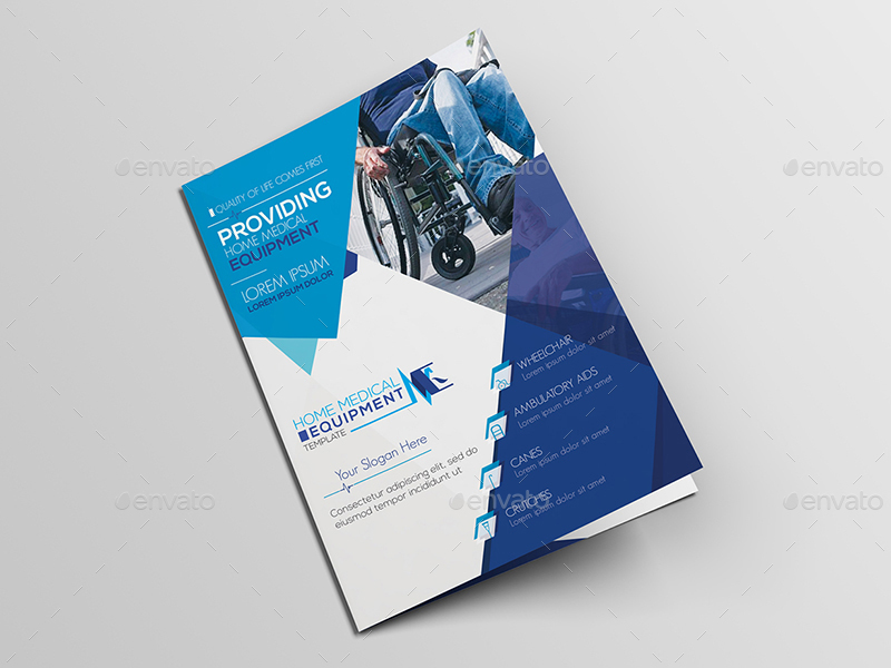 home medical equipment   a5 brochure template by wutip2