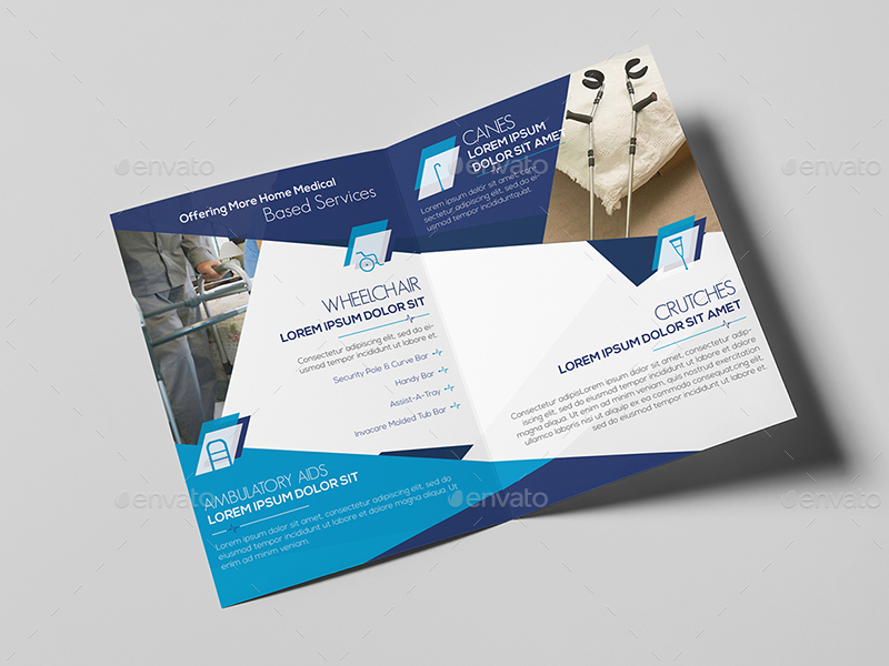 Home medical equipment a5 brochure template by wutip2 for A5 brochure template