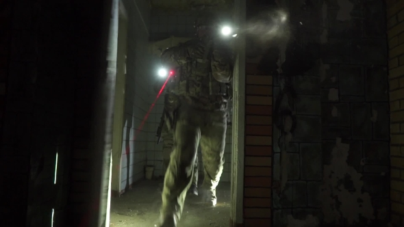 Download Two Armed Soldiers Suddenly Assaulting Dark Room nulled download