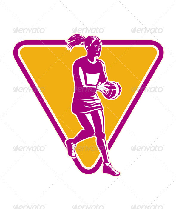 Netball Player Holding Passing Ball