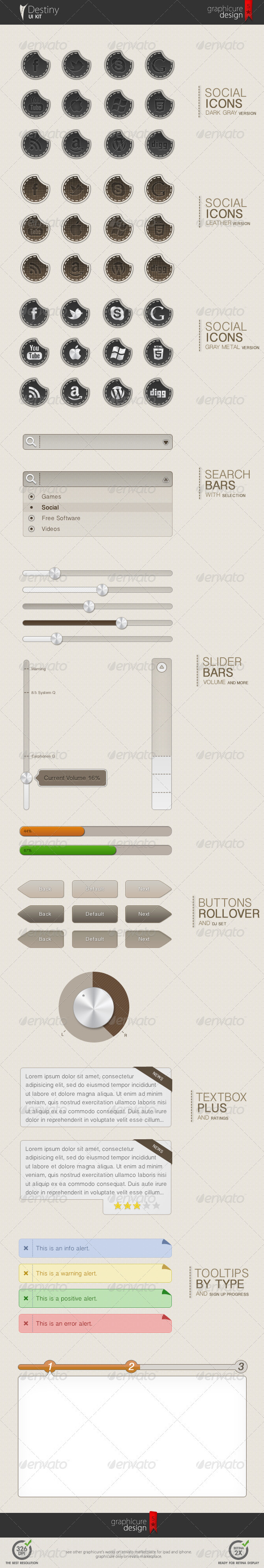 GraphicRiver UI Kit Destiny 1667930