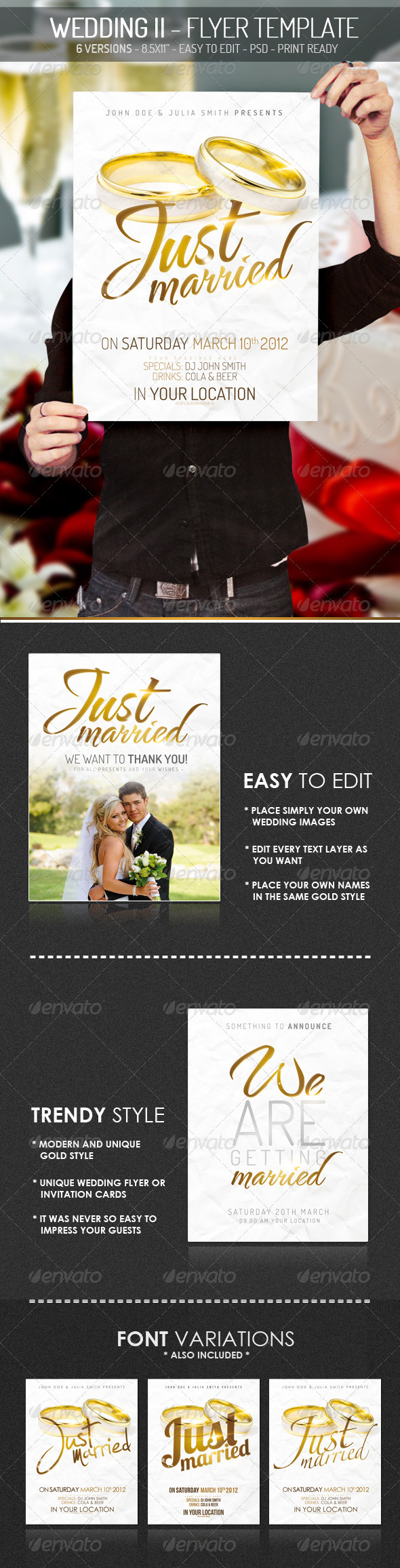Wedding II - Flyer Template - Clubs & Parties Events