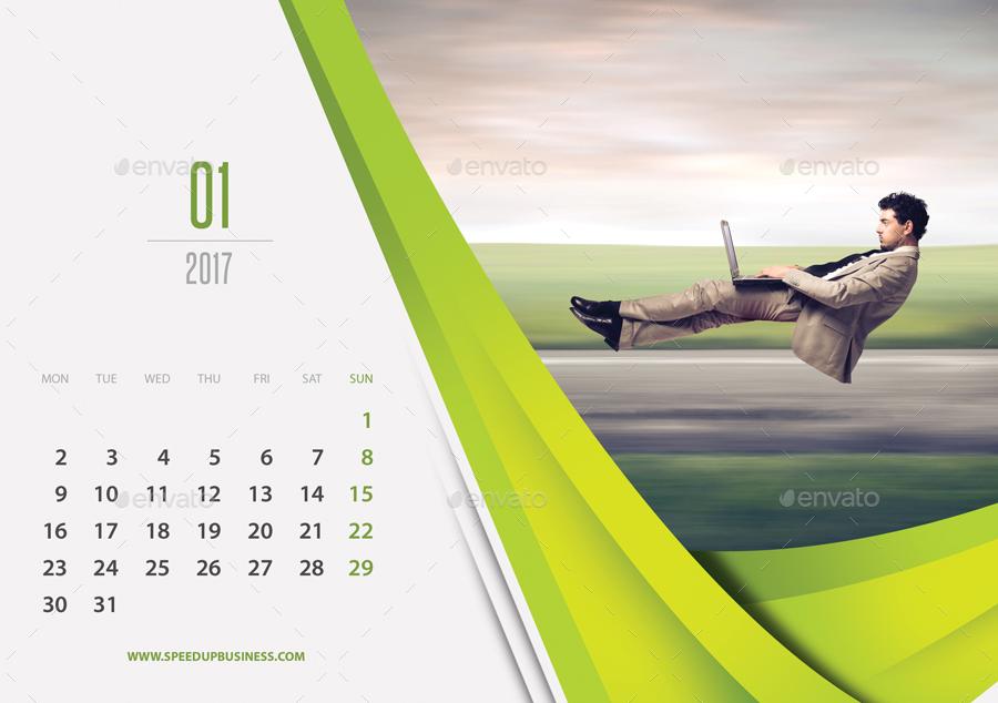 Creative Desk Calendar 2017 V11 by rapidgraf | GraphicRiver