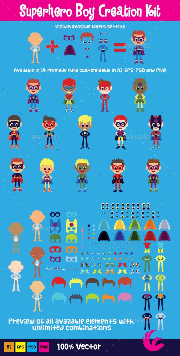 Superhero Boy Creation Kit