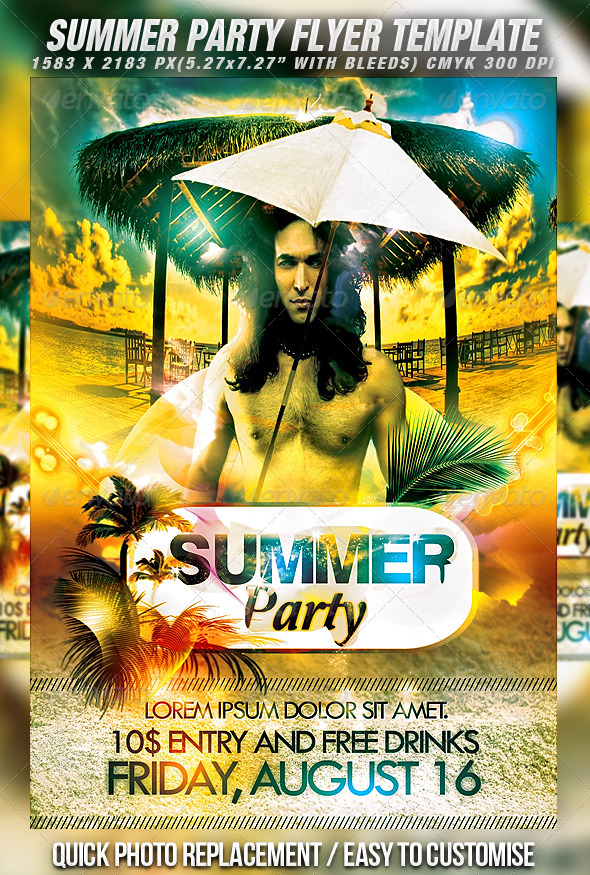 GraphicRiver Summer Party Flyer 398424