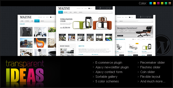 Mazine Wordpress Theme - A WP E-Commerce theme - Mazine theme overview