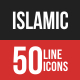 Islamic Filled Line Icons
