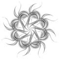 Grey silver wavy pattern shape