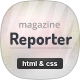 Reporter - News & Magazine HTML Template