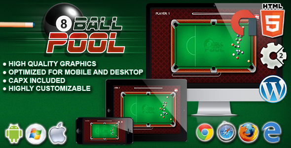 8 Ball Pool - HTML5 Construct Game