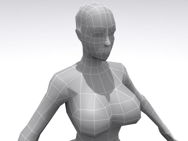 3DOcean Female Base 3D Models -  Humans  Female 1686899