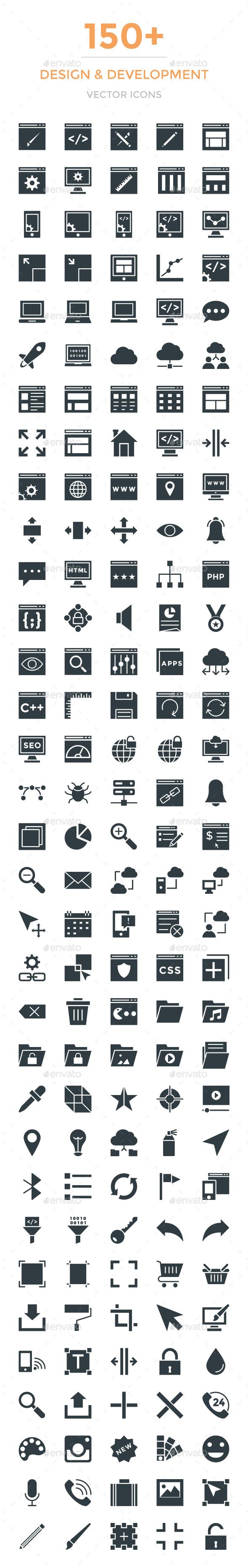 150+ Design and Development Icons