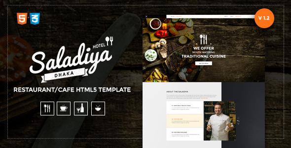 Saladiya Responsive Restaurant/Cafe Html5 Template