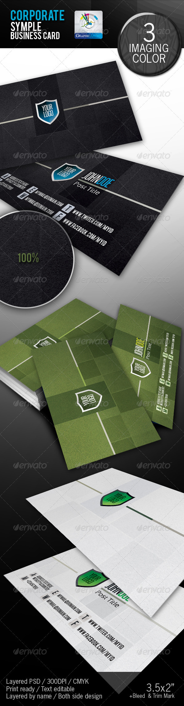 Corporate Creative Business Card - Corporate Business Cards