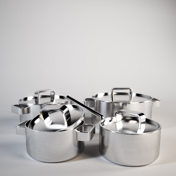 Iittala Tools Cookware Set - 3DOcean Item for Sale